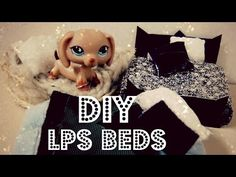 DIY 3 Lps Beds (Plush bed, Dog Bed, Traditional Bed) - YouTube