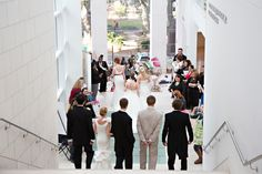 Models walking down the stair case at The Telfair during Savannah's Behind the Veil event. Photo credit: Katie McGee