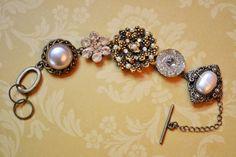Vintage Pieces Bracelet  Repurposed and by OneCharmingTreasure, $44.99