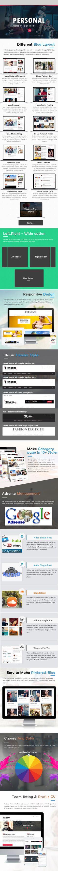 Personal – Best Blog, CV and Video WordPress Theme
