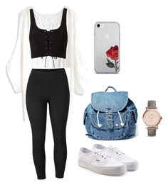 """Untitled #89"" by alessiacaravetta on Polyvore featuring Chicwish, Venus, Vans, Dance & Marvel, FOSSIL and plus size clothing"