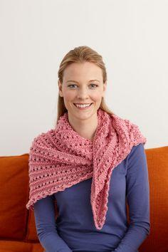 Splendid Elegance Triangle Shawl  #free #pattern #crochet