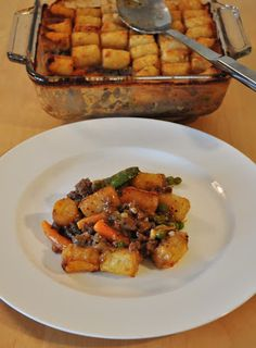 My Tiny Oven: Tater Tot Casserole - doesn't look like the healthiest recipe, but it sure does look tasty!