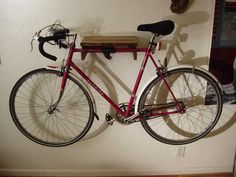 Wall-Mount-Bike-Rack-Bike-With-Red-Color