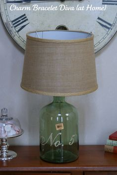 Charm Bracelet Diva {at Home}: The Latest Trend: Glass Bottle Table Lamps I just bought this same lamp at the flea mkt    ~tr