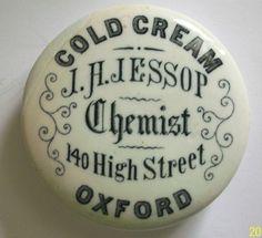 J H JESSOP OXFORD CHEMIST POT LID. RARE