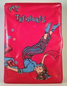 Vintage Red My Treasures Keepsake Box Vinyl Ponytail Mid Century Free Shipping