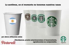Menos mal en Starbucks Argentina no se disculparon en Pinterest por utilizar los vasos argentinos como si lo hicieron en Facebook y Twitter... un claro ejemplo de cómo los community manager pueden incendiar la marca en las redes sociales y luego echarle gasolina.  El SMO es un área donde las personas que están a cargo son las que están gestionando directamente la marca, la imagen y la reputación de la empresa.  ¿Quien gestiona la estrategia y las redes sociales en tu empresa? Hot Coffee, Coffee Cups, Starbucks, Community Manager, Facebook, Mugs, Twitter, Tableware, Vases