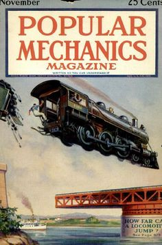 A cover gallery for Popular Mechanics Magazine Images, Magazine Covers, Mad Movies, Science Fiction Magazines, Science Magazine, Train Art, Railway Posters, Winter Scenery, Popular Mechanics