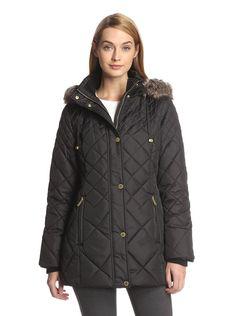 Amazon.co.jp: [ロンドンフォグ] London Fog フェイクファー ロンドンフォグ キルティングコート Quilted Coat with Faux Fur USAサイズ:S【並行輸入品】: 服&ファッション小物通販