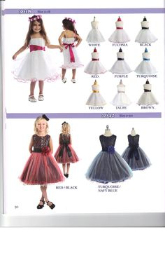 These are some fun dresses for your little girl think the bottom one would be fabulous for Christmas.