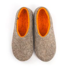 Handmade in Greece using 100% wool. Natural mountain sheep wool on the outside, merino for the interior. Most comfortable and natural are best enjoyed barefoot. #mens #felted #wool  #slippers