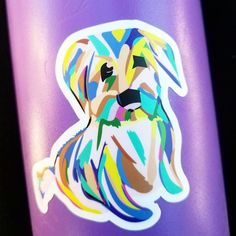 Dog Sticker, Puppy Sticker, Laptop Sticker, Vinyl Sticker, Cool Sticker, Hipster Sticker, Hydroflask Sticker, Stickers, Water bottle Sticker Details • Thick, durable vinyl. • UV Laminate that protects from scratching, rain, & sunlight This listing is for a single sticker, so choose