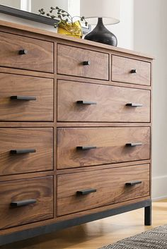 Inspired by the Arts and Crafts movement, the Linear storage collection is built in a small woodworking shop in northern Wisconsin.