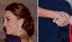 Upclose of Kate's jewelery tonight at the Met. Palace aids confirm that they are part of a private gift.