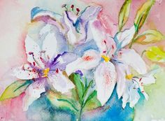 lily painting watercolor - Google Search