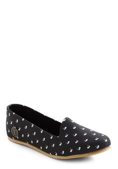 Swan Break Flat  I really like the pattern on these shoes and they look so comfy! One review said they were a bit tight at first, but what shoe isn't?  $39.99  #ModCloth