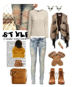 """Nordic style"" by nordicstyle ❤ liked on Polyvore featuring Kelly & Katie, Yves Salomon, Prada, Steve Madden, H&M, Fendi, women's clothing, women, female and woman"