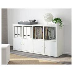KALLAX white, Shelving unit, 77x147 cm - IKEA Etagere Kallax Ikea, Ikea Kallax Shelf Unit, Ikea Kallax Regal, Open Shelving Units, Ikea Family, White Stain, Small Room Bedroom, Home Office Design, Home Deco