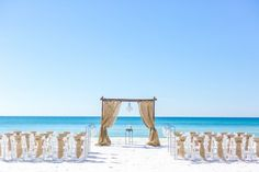 beach wedding in Panama City beach florida