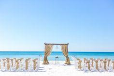beach wedding in Panama City beach florida