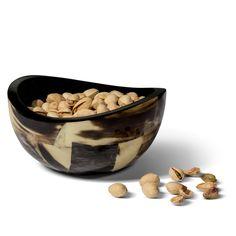 Horn Veneer Accent Bowl from belleandjune.com | tabletop table accessories, horn, veneer, accent bowl, bowl, accessorize,home decor, accents, new arrivals, belle and june