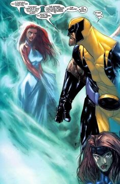 Wolverine Civil War Panel...the many images of Jean Grey (part I) - Phoenix of the White Crown