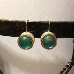 Anne Klein Teal Earrings Dainty with teal stones in silver. Open shepherd hook.  SC055. LD010415 Jewelry Earrings