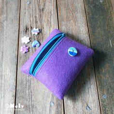Piccolo portatutto da borsa in feltro glicine di MelyHandmade su Etsy