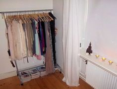 kinda like this idea. rack of clothes out in the open.
