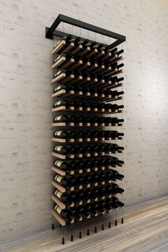 - wall mounted cable wine rack – Buoyant Wine StorageYou can find Wine storage and more on our - wall mounted cable wine rack – Buoyant Wine Storage Unique Wine Racks, Modern Wine Rack, Wine Cellar Modern, Wine Rack Design, Wine Cellar Design, Wine Rack Inspiration, Wall Hanging Wine Rack, Mini Bar, Home Wine Cellars