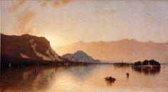 Isola Bella à Lac Majeur, huile sur toile de Sanford Robinson Gifford (1823-1880, United States)