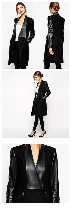 PU made coat both suitable for Casual/Work occasions, stock up this coat/jacket for your early fall closet in only $26.99. #flashsale #coat Fashion Beauty, Women's Fashion, Casual Day Dresses, Oui Oui, Early Fall, Work Casual, Cloths, Tweed, My Style