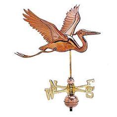 Feathered Heron Weathervane