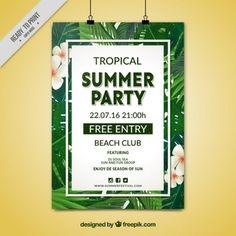 Affiche de fête d'été Tropical