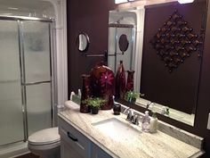 Chocolate Basement Bath - Bathroom Designs - Decorating Ideas - HGTV Rate My Space