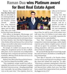 Here's bringing you Save Max coverage from the Brampton Guardian Reader's Choice Winners Special Edition. We thank you once again for believing in us and promise to serve you even better in the coming years!! Save Max Real Estate - Google+