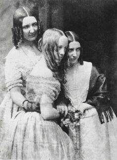 The Misses Binny and Miss Monro, c. 1845, by David Octavius Hill and Robert Adamson