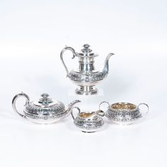 <i>Rebecca Emes and Edward Barnard</i> Sterling Tea and Coffee Service (9/6/2014 - Cleveland Inaugural Auction: Live Salesroom Auction)