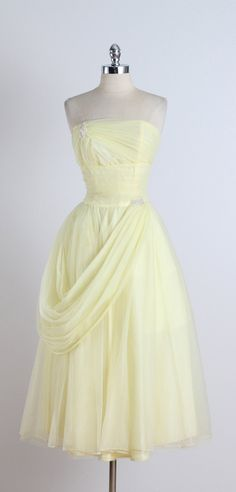 Swept Away . vintage 1950s dress . cocktail by millstreetvintage