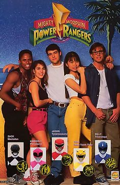 I had that one when i was 10 years old, wonderful memories! So here the Mighty Morphin Power Rangers 1993 poster.