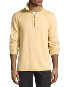 Tommy Bahama Quarter-Zip Stretch-Knit Jacket, New Wheat