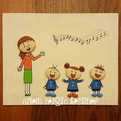 20x25 cm. Öğretmenler günü için yaptığım tablo. #tasboyama #stonepainting #kisiyeozelhediye #hediye #gift #ogretmenlergunu #ogretmen #ogrenci #ilkokul #music #müzik #sarki #eğitim #ogretmenlergunuhediyesi #elemegi #elyapimi #homedecor #okul #tablo #satilik #sevinc #mutluluk