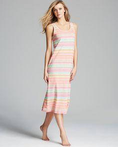 RALPH LAUREN Lauren Juno Beach Knit Gown Royal Palm Multi $49