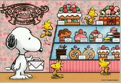 -Snoopy, Woodstock and Friends at the Bakery.