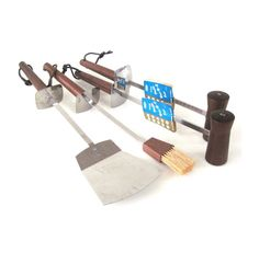 BBQ Grill Utensil Set Androck Wood NOS Salt by LaurasLastDitch, $39.99