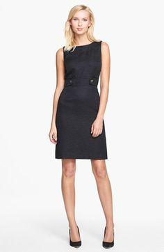 Tahari Metallic Jacquard Sheath Dress available at #Nordstrom