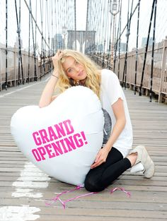 Elsa celebrating the opening of our brand new Kings Plaza store in Brooklyn! #VSPINK #NYCLove