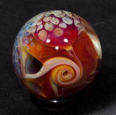 Batik Borosilicate Marble 7213.2 by BlueGooseStudios on Etsy, $55.00