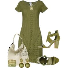 Alberta Ferretti military green short dress, created by arjanadesign on Polyvore
